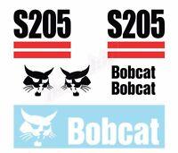 Bobcat S205 Skid Steer Set Vinyl Decal Sticker - Aftermarket