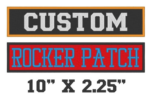 "B Custom Embroidered Rocker Patch Biker Patch Club Outlaw MC 10/"" X 2.25/"" Badge"