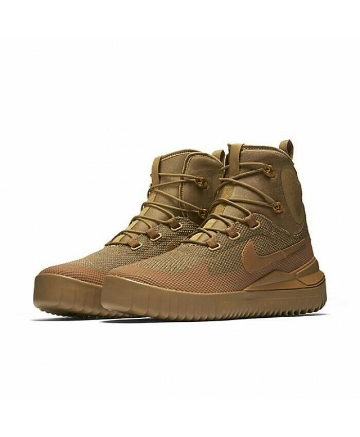 Nike hommes Air Wild Mid Golden Beige/Ale BrownChaussures916819 2009.5 EUR 44.5