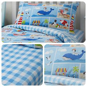 Bedlam-Patch-Seaside-Childrens-Bedding-Kids-Duvet-Cover-Set-Fitted-Sheet-Blue