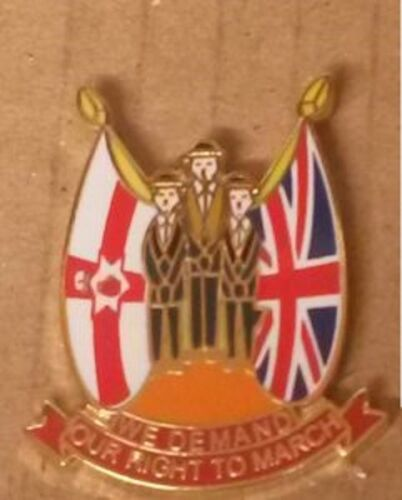 we demand our right to march lapel badge orange oreder loyal orders loyalist