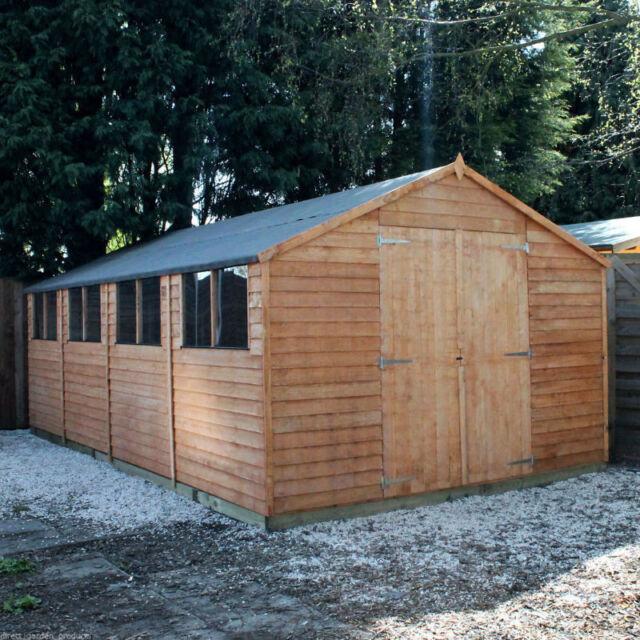 20x10 Tongue Groove Windowless Wooden Shed Workshop Double Door Apex Roof Felt For Sale Ebay