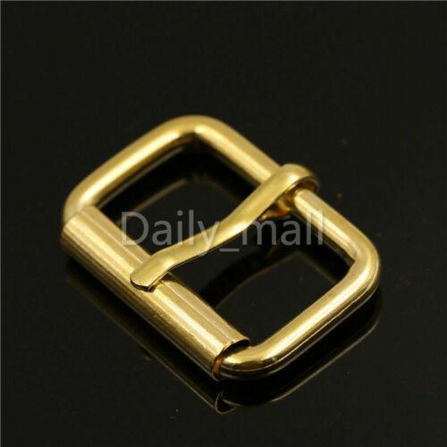 Brass Heel Bar Buckle End Bar Roller Buckle Rectangle Single pin For Belt Bag
