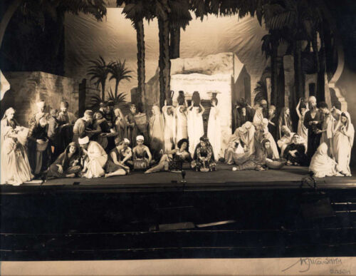 9X11 PHOTO OF LARGE ENSEMBLE CAST IN COSTUMES ON STAGE