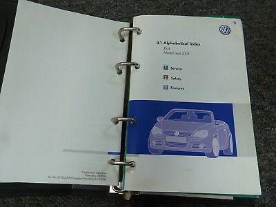 2008 Volkswagen VW Eos Convertible Owner Manual User Guide