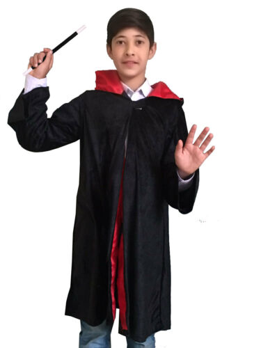 Childrens  Wizard Boy Potter Halloween Fancy Dress Costume Cape Wand Glasses