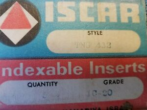 ISCAR-Indexable-TNG-432-IC-20-Carbide-Inserts-5-Pcs-Mill-Lathe-Tools-New-Turning