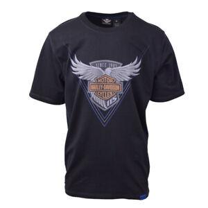 Harley-Davidson-Men-039-s-Black-S-S-Graphic-Tee