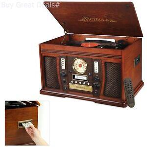 Image Is Loading Victrola Nostalgic Aviator Wood 7 In 1 Bluetooth