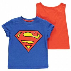 Chicos Niños Childrens Azul DC Superman T Shirt Cabo  </span>