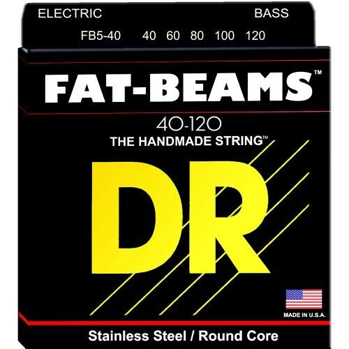 DR FAT BEAMS Bass Saiten 5-String Light .040-.120   Neu