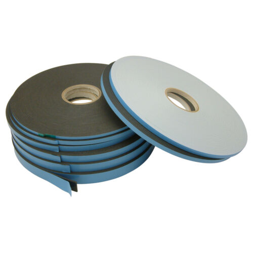 Black JVCC DC-WGT-01 D//C Window Glazing Tape: 1//8 in thick x 1//4 in x 75 ft.