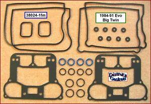 Full Rocker Box Gasket Kit foamet base gaskets 84-91 Evo Big Twin ref 17038-90