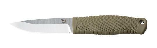 BENCHMADE 200 PUUKKO CPM-3V BUSHCRAFT FIXED BLADE KNIFE WITH SHEATH