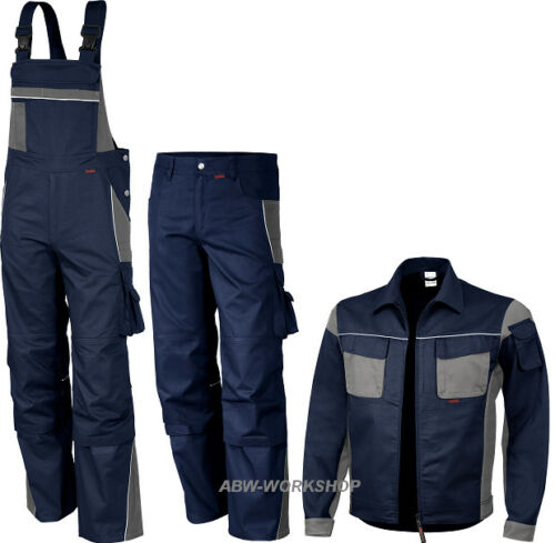QUALITEX Latzhose Bundhose Arbeitsjacke Arbeitshose Berufsbekleidung marine blau