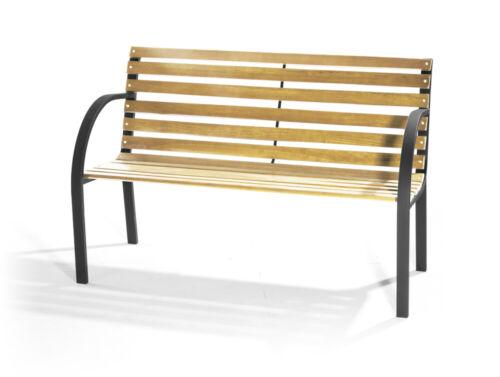 VERDELOOK Panchina 2 posti da giardino New York in legno 120x62 altezza 82cm