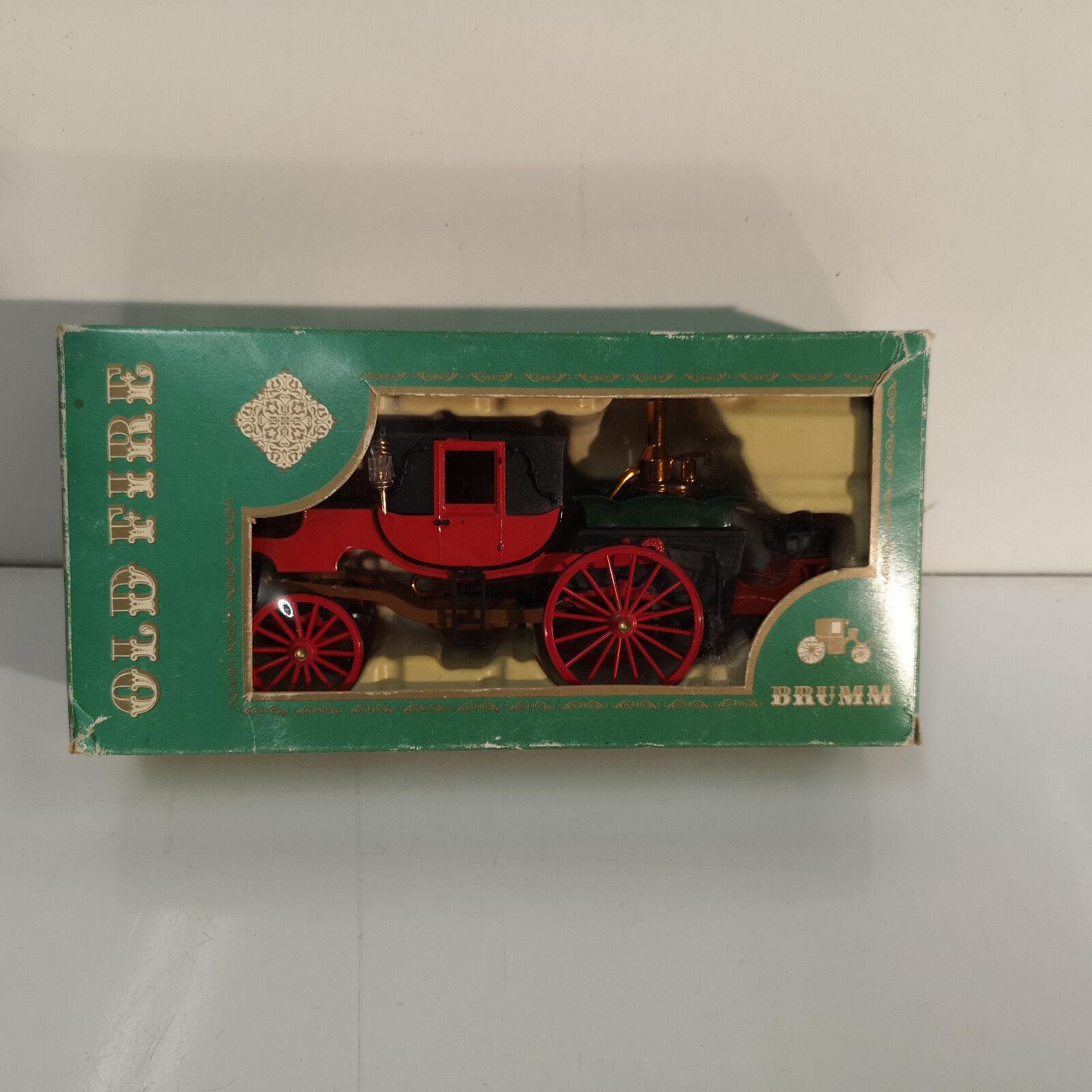 BRUMM SERIE OLD FIRE X5 1854 CARRO A VAPORE Di BORDINO Made in1976 SCALE 1 43