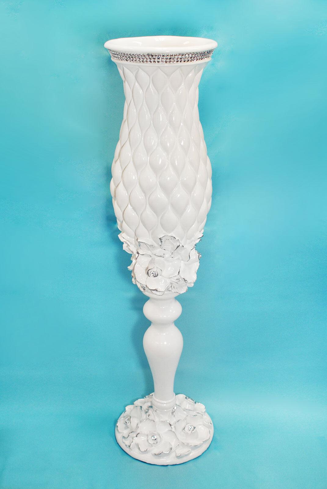 Vase Fiberglass Garden Home Decor Acrylic Diamond Decoration Vintage Flower
