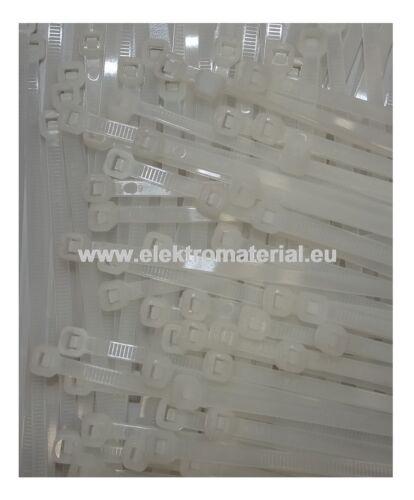 100 Stück Kabelbinder Natur 310x4,8mm     0,0285€//Stück