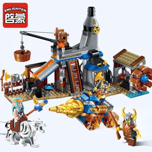 Building Blocks War of Glory Castle Knight blacksmith shop Educational Brick Toy