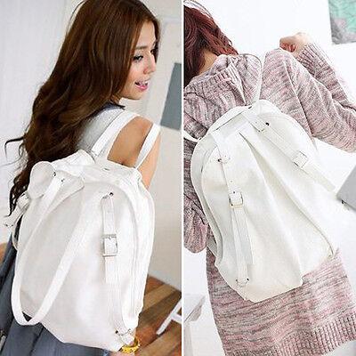 Women's PU Leather Handbag Travel Satchel Shoulder Bag Backpack School Rucksack