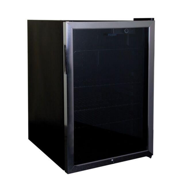 Haier 4.6 cu. ft. Black Compact Mini Refrigerator w/Locking Glass Door