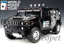 HIGHWAY 61 19001 HUMMER H2 SUV WORLD POKER TOUR 1/18 DIECAST BLACK
