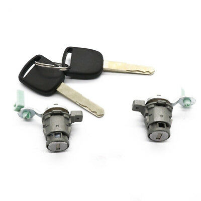 2PCS Left + Right Driver Side Door Lock Cylinder Fit For Honda With 2 Keys  Parts | eBay