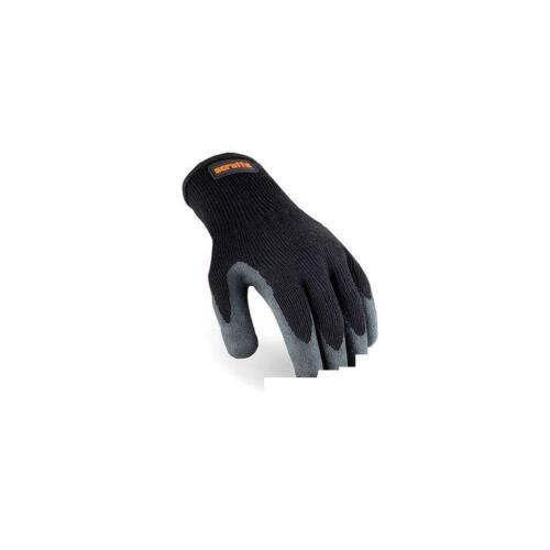 Scruffs utilitaire Latex enduits gants T50997 Noir