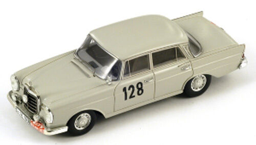 Spark Model 1 43 220SE S1004 Mercedes Benz 220SE 43  128 Winner Rally Montecarlo 1960 NEW cef5e8