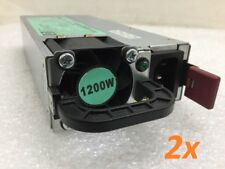 Lot of 2 - HP 1200W Power Supply Server 490594-001 438203-001 HSTNS-PL11