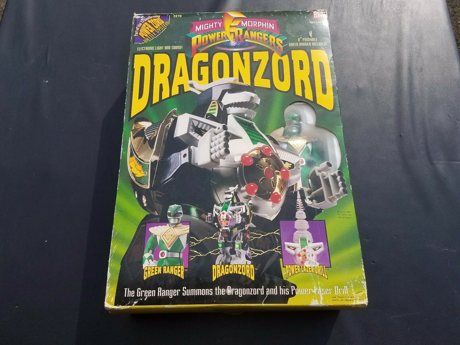 1993 Bandai Mighty Morphin Power Rangers DRAGONZORD & Grün RANGER 2270
