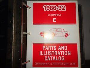 1986-thru-1992-Oldsmobile-Parts-amp-Illustration-Catalog-Manual-E-Body-Binder
