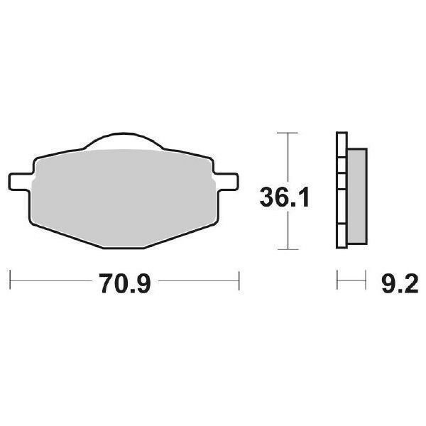 MS-9E5AA28C2A PASTIGLIA FRENO ANT. SBS 575HF 86 TT S (55U) 600 YAMAHA 575>107 EN