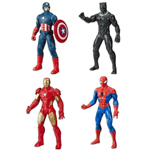 Marvel Avengers Spiderman Iron Man Captain America Panther Action Figure PVC Toy