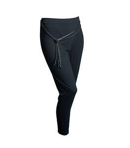 Elegante-Nero-Leggings-LEVANTE-MODA-Legging-PORTACANDELA-f015-leggin-legging-Italia