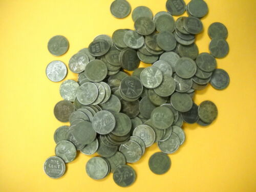 10 Mixed 1943 Circulated Wartime Steel Cents World War II Free Shipping
