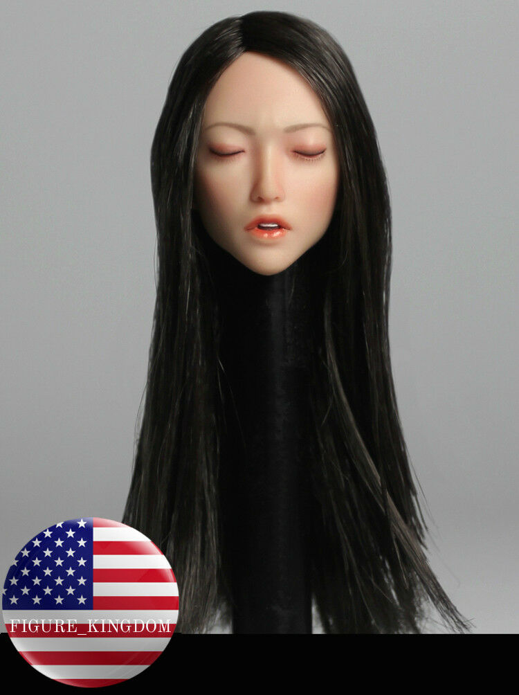 1 6 Sexy Female Head Sculpt Closed Eyes A For 12  PHICEN VERYCOOL Female Figure