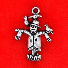 4 x Tibetan Silver Farm Scarecrow OZ Charm Pendant Jewellery Making