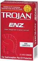 Trojan Enz Non-lubricated Condoms 1 Pack = 12 Condoms on sale