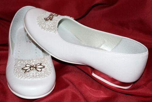 Sehr edle Kommunionschuhe Schuhe  Mädchenschuhe Balerina in weiss NEU! Nr.0804