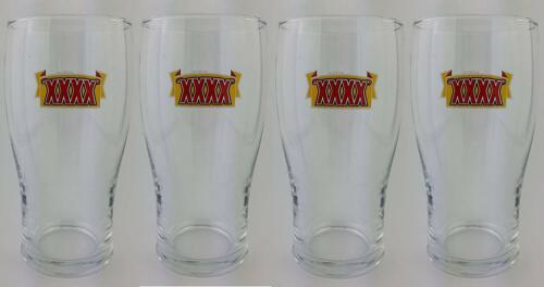 4 x Castlemaine XXXX Pint Glasses NEW