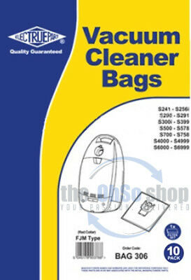 10 x FJM Vacuum Bags for Miele S700 S710 S710-1 Hoover UK