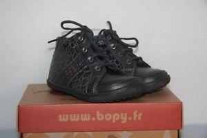 65742342854d3 BOPY - Berock - Chassures bébé Fille - Cuir Gris léopard - T 22 neuf ...