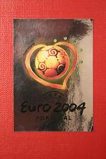 Panini EURO 2004 N. 1 LOGO NEW With BLACK BACK TOPMINT!!