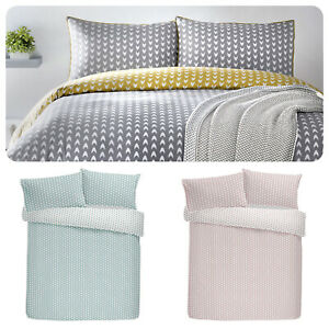Appletree-DARI-Duvet-Cover-Set-100-Cotton-Chevron-Patterned-Quilt-Bedding-Sets