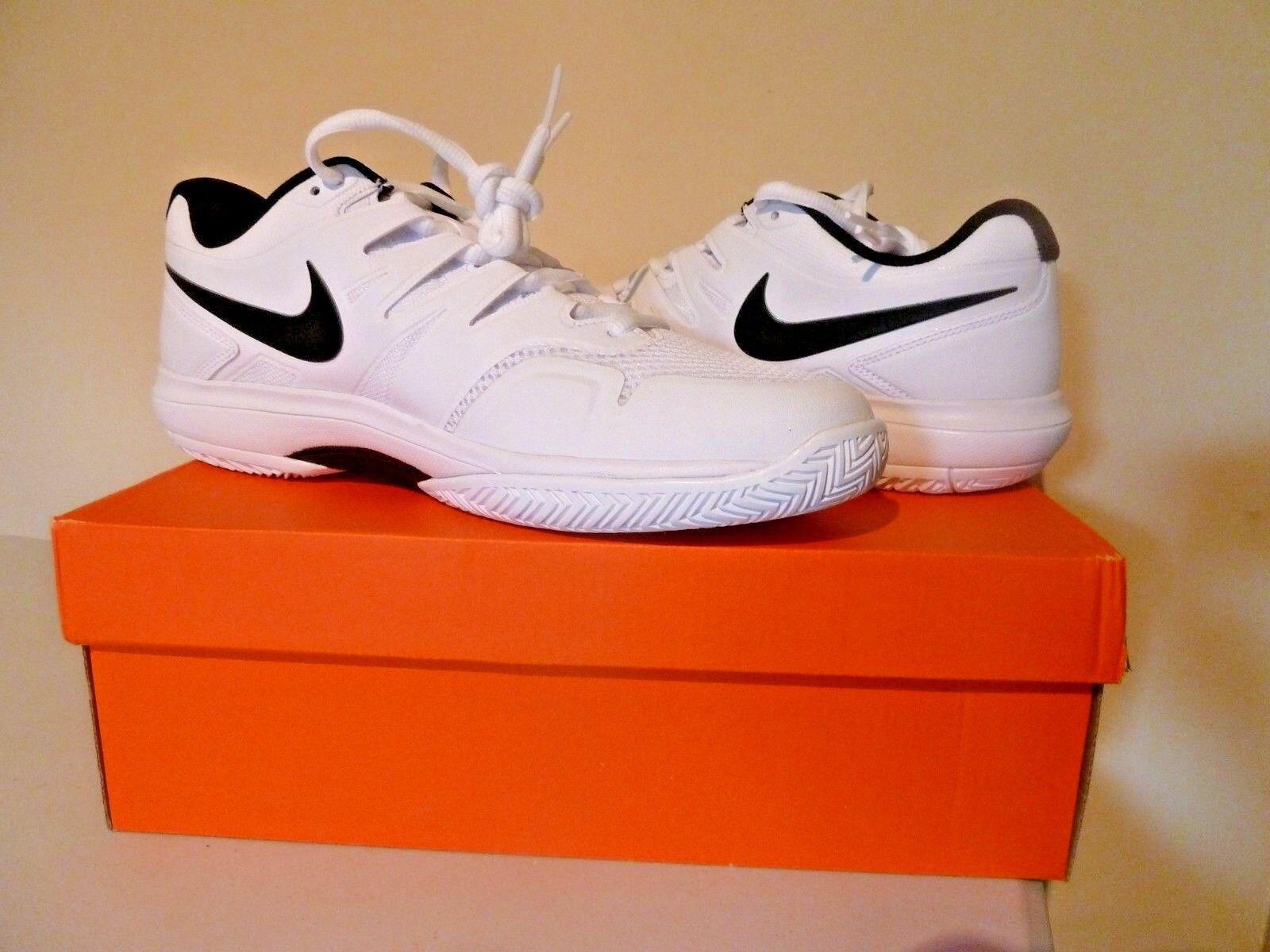Nike Air Zoom Prestige scarpa da tennis/Scarpe Da Ginnastica BIANCO NUOVO IN SCATOLA RRP