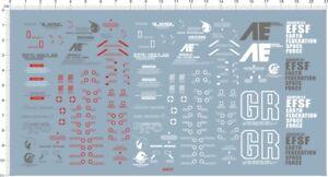 Gundam decals  1//48 Unicorn Bust 60748