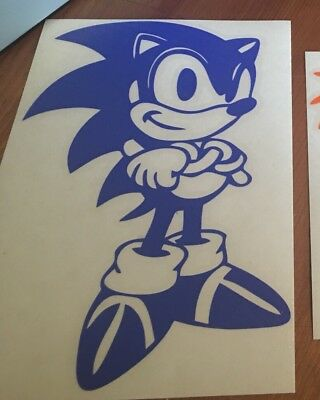 Sonic The Hedgehog Full Body Vinyl Car Window And Laptop Decal Sticker Ebay