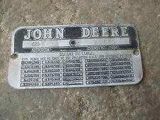 1956 John Deere 420w 420 W Tractor S82451 Original Jd Serial Number Tag Rare